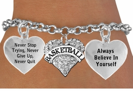 "<BR>                 GENUINE CRYSTAL HEART WITH ENGRAVED "" BASKETBALL "" <BR>                                  ADJUSTABLE CHARM BRACELET WHOLESALE <bR>                 W21419B - THE NEW WAY TO EXPRESS LOVE, MOTIVATION,<BR>          POSITIVE, AFFIRMATIVE EXPRESSIONS, THAT WILL GO PERFECTLY<br>        WITH ANOTHER POSITIVE AFFIRMATION CHARM IF YOU WANT  ONE,<BR>   MORE CHOICES LOOK BELOW,  CHARM BRACELET FROM $9.73 TO $14.58<BR>                                    CostumeJewelryWholesale.com �2014"