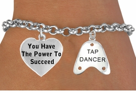 "<BR>                    BEAUTIFUL ""YOU HAVE THE POWER TO SUCCEED HEART <BR>                  CHARM"" & ""TAP DANCER"" CHARM BRACELET WHOLESALE <bR>                 W21458B - THE NEW WAY TO EXPRESS LOVE, MOTIVATION,<BR>          POSITIVE, AFFIRMATIVE EXPRESSIONS, THAT WILL GO PERFECTLY<br>        WITH ANOTHER POSITIVE AFFIRMATION CHARM IF YOU WANT  ONE,<BR>   MORE CHOICES LOOK BELOW,  CHARM BRACELET FROM $9.73 TO $14.58<BR>                                    CostumeJewelryWholesale.com �2014"