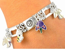 <bR>    W2155B - TENNESSEE STATE<BR>      MAGNETIC CLASP STRETCH<BR>BRACELET FROM $3.94 TO $8.75