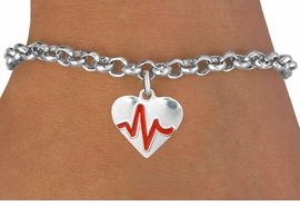 "<BR>                                          NICKEL FREE & ADJUSTABLE BRACELET ! <BR>                                                         ""THE PERFECT GIFT"",<BR>                               ""Your Love Makes My Heart Beat"","" I Love You"", Or<BR>                      In Recognition Of ""Women's Or Children's Heart Disease""<BR>                           "" HEARTBEAT "" ADJUSTABLE LOBSTER CHAIN BRACELET<BR>                               AN ORIGINAL ALLAN ROBIN CUSTOM DESIGN<br>                                          WHOLESALE CHARM BRACELET <BR>                                        LEAD, CADMIUM & NICKEL FREE!!  <BR>                           W21568B-ADJUSTABLE LOBSTER CHAIN SILVER TONE  <BR>                             BRACELET FROM $4.90 TO $5.85 EACH! ©2015"