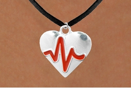 "<BR>                                           NICKEL FREE & ADJUSTABLE NECKLACE ! <BR>                                                         ""THE PERFECT GIFT"",<BR>                               ""Your Love Makes My Heart Beat"","" I Love You"", Or<BR>                      In Recognition Of ""Women's Or Children's Heart Disease""<BR>                     ""HEARTBEAT""  BLACK SUEDE CHAIN ADJUSTABLE NECKLACE<BR>                                     AN ORIGINAL ALLAN ROBIN CUSTOM DESIGN<br>                                                   WHOLESALE CHARM NECKLACE <BR>                                                 LEAD, CADMIUM & NICKEL FREE!!  <BR>                                   W21576N-BLACK SUEDE,  ADJUSTABLE NECKLACE <BR>                                   FITS ALL SIZES FROM $5.60 TO $9.85 EACH! ©2015"