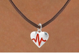 "<BR>                                  NICKEL FREE & ADJUSTABLE NECKLACE ! <BR>                                                         ""THE PERFECT GIFT"",<BR>                               ""Your Love Makes My Heart Beat"","" I Love You"", Or<BR>                      In Recognition Of ""Women's Or Children's Heart Disease""<BR>                            ""HEARTBEAT"" BROWN SUEDE ADJUSTABLE NECKLACE<BR>                                     AN ORIGINAL ALLAN ROBIN CUSTOM DESIGN<br>                                                   WHOLESALE CHARM NECKLACE <BR>                                                 LEAD, CADMIUM & NICKEL FREE!!  <BR>                                W21579N-BROWN SUEDE ADJUSTABLE NECKLACE <BR>                                FITS ALL SIZES FROM $5.60 TO $9.85 EACH! ©2015"