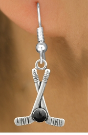 <BR>                                NICKEL FREE !<BR>             WHOLESALE HOCKEY JEWELRY <bR>                    EXCLUSIVELY OURS!! <Br>               AN ALLAN ROBIN DESIGN!! <BR>         LEAD, NICKEL & CADMIUM FREE!! <BR>W21581SE - SILVER TONE HOCKEY STICKS <BR>              AND PUCK CHARM EARRINGS <BR>             FROM $5.40 TO $10.45 �2013