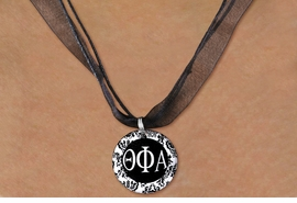 <BR> WHOLESALE FASHION SORORITY JEWELRY <BR>                 EXCLUSIVELY OURS!! <BR>            AN ALLAN ROBIN DESIGN!! <BR>      LEAD, NICKEL & CADMIUM FREE!! <BR>  W21610N - OFFICIAL GREEK SORORITY <BR>      THETA PHI ALPHA DISK CHARM ON <Br>        BLACK SHEER CORDED NECKLACE <BR>           FROM $4.16 TO $9.25 �2015