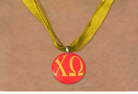 <BR>   NICKEL FREE & ADJUSTABLE NECKLACE !<BR> WHOLESALE FASHION SORORITY JEWELRY <BR>                 EXCLUSIVELY OURS!! <BR>            AN ALLAN ROBIN DESIGN!! <BR>      LEAD, NICKEL & CADMIUM FREE!! <BR>  W21612N - OFFICIAL GREEK SORORITY <BR>      CHI OMEGA COLOR DISK CHARM ON <Br> ATHLETIC GOLD SHEER DUAL CORDED NECKLACE <BR>          FROM $4.16 TO $9.25 �2015