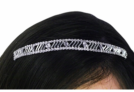 <bR>          LEAD & NICKEL FREE!!<bR>W21624T - GENUINE AUSTRIAN<Br>  CRYSTAL REPEAT PATTERNED<bR> THIN CRYSTAL HEADBAND <Br>        FROM $14.75 TO $25.00