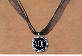 <BR>   NICKEL FREE & ADJUSTABLE NECKLACE !<BR> WHOLESALE FASHION SORORITY JEWELRY <BR>                 EXCLUSIVELY OURS!! <BR>            AN ALLAN ROBIN DESIGN!! <BR>      LEAD, NICKEL & CADMIUM FREE!! <BR>  W21625N - OFFICIAL GREEK SORORITY <BR>      ALPHA OMICRON PI DISK CHARM ON <Br>        BLACK SHEER CORDED NECKLACE <BR>         FROM $4.16 TO $9.25 �2015