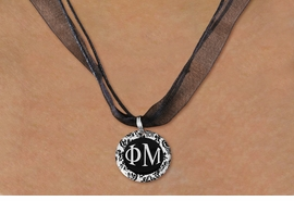 <BR>   NICKEL FREE & ADJUSTABLE NECKLACE !<BR> WHOLESALE FASHION SORORITY JEWELRY <BR>                 EXCLUSIVELY OURS!! <BR>            AN ALLAN ROBIN DESIGN!! <BR>      LEAD, NICKEL & CADMIUM FREE!! <BR>  W21637N - OFFICIAL GREEK SORORITY <BR>       PHI MU DISK CHARM ON <Br>        BLACK SHEER CORDED NECKLACE <BR>          FROM $4.16 TO $9.25 �2015