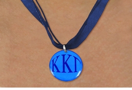<BR>   NICKEL FREE & ADJUSTABLE NECKLACE !<BR> WHOLESALE FASHION SORORITY JEWELRY <BR>                 EXCLUSIVELY OURS!! <BR>            AN ALLAN ROBIN DESIGN!! <BR>      LEAD, NICKEL & CADMIUM FREE!! <BR>  W21658N - OFFICIAL GREEK SORORITY <BR>KAPPA KAPPA GAMMA COLOR DISK CHARM ON <Br>NAVY BLUE SHEER DUAL CORDED NECKLACE <BR>          FROM $4.16 TO $9.25 �2015