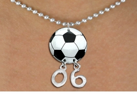 <Br>                  EXCLUSIVELY OURS!!<Br>            AN ALLAN ROBIN DESIGN!!<Br>                 LEAD & NICKEL FREE!! <BR>       THIS IS A PERSONALIZED ITEM <Br>W21670N - SILVER TONE BALL CHAIN <BR>NECKLACE AND SOCCER BALL PENDANT <BR>         WITH YOUR TEAM NUMBER <BR>        FROM $7.65 TO $17.00 �2014