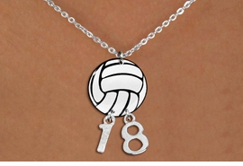 <Br>                  EXCLUSIVELY OURS!!<Br>            AN ALLAN ROBIN DESIGN!!<Br>                 LEAD & NICKEL FREE!! <BR>       THIS IS A PERSONALIZED ITEM <Br>W21745N - LOBSTER CLASP CHAIN LINK <BR>NECKLACE AND VOLLEYBALL PENDANT <BR>         WITH YOUR TEAM NUMBER <BR>        FROM $7.65 TO $17.00 �2014