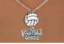 "<BR>   NICKEL FREE & ADJUSTABLE NECKLACE !<Br>                  EXCLUSIVELY OURS!!<Br>            AN ALLAN ROBIN DESIGN!!<Br>                 LEAD & NICKEL FREE!! <Br>W21746N - LOBSTER CLASP CHAIN LINK <BR>NECKLACE AND VOLLEYBALL PENDANT <BR>WITH SILVER TONE ""VOLLEYBALL CHICK!"" CHARM <BR>        FROM $7.31 TO $16.25 �2015"