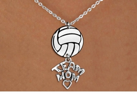 "<BR>   NICKEL FREE & ADJUSTABLE NECKLACE !<Br>                  EXCLUSIVELY OURS!!<Br>            AN ALLAN ROBIN DESIGN!!<Br>                 LEAD & NICKEL FREE!! <Br>W21755N - LOBSTER CLASP CHAIN LINK <BR>NECKLACE AND VOLLEYBALL PENDANT <BR>WITH SILVER TONE ""TEAM MOM"" CHARM <BR>        FROM $7.31 TO $16.25 �2015"