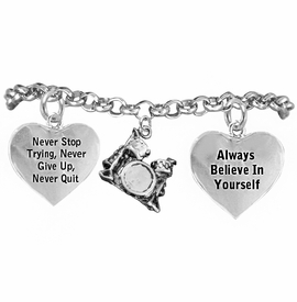 <BR>       WHOLESALE MUSIC & BAND JEWELRY  <BR>            COMPLETELY HYPOALLERGENIC  <BR>        NICKEL, LEAD & CADMIUM FREE!!  <BR>   W21809B2 - 3D DETAILED SILVER TONE  <BR>        WHOLE DRUM SET CHARM ON CHAIN  <BR>     LINK BRACELET WITH LOBSTER CLASP  <BR>           FROM $9.73 TO $14.58 �2015