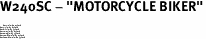 "W240SC - ""MOTORCYCLE BIKER""<BR> <FONT size=""2"">Buy 1-2 for $4.05 Each<br>Buy 3-5 for $3.65 Each<br>Buy 6-11 for $3.55 Each<br>Buy 12-23 for $3.45 Each<br>Buy 24-49 for $3.35 Each<br>Buy 50 or More for $3.25 Each<br>Buy 100 or More for $2.35 Each</font>"