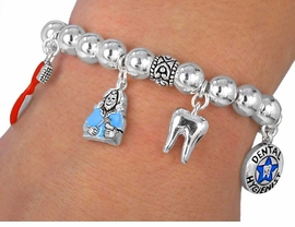 W2458B- NEW! DENTAL HYGIENIST<BR>         BRACELET AS LOW AS $4.50
