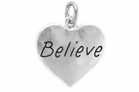 "W263SC - ""BELIEVE"" HEART <BR> <FONT size=""2"">Buy 1-2 for $4.05 Each<br>Buy 3-5 for $3.65 Each<br>Buy 6-11 for $3.55 Each<br>Buy 12-23 for $3.45 Each<br>Buy 24-49 for $3.35 Each<br>Buy 50 or More for $3.25 Each<br>Buy 100 or More for $2.35 Each</font>"