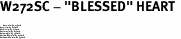"W272SC - ""BLESSED"" HEART <BR> <FONT size=""2"">Buy 1-2 for $4.05 Each<br>Buy 3-5 for $3.65 Each<br>Buy 6-11 for $3.55 Each<br>Buy 12-23 for $3.45 Each<br>Buy 24-49 for $3.35 Each<br>Buy 50 or More for $3.25 Each<br>Buy 100 or More for $2.35 Each</font>"
