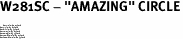 "W281SC - ""AMAZING"" CIRCLE<BR> <FONT size=""2"">Buy 1-2 for $4.05 Each<br>Buy 3-5 for $3.65 Each<br>Buy 6-11 for $3.55 Each<br>Buy 12-23 for $3.45 Each<br>Buy 24-49 for $3.35 Each<br>Buy 50 or More for $3.25 Each<br>Buy 100 or More for $2.35 Each</font>"