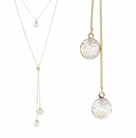 <BR>     W29506N12 - EXCITING NEW FASHION JEWELRY EXCLUSIVE <BR>  BRIGHT WHITE NATURAL GEODE CRYSTAL GOLD-TONE NECKLACE <BR>    ADJUSTABLE GOLD-TONE BEAD FOR DANGLING GEODE PENDANTS<BR>                     NO NICKEL, LEAD, OR POISONOUS CADMIUM.  <br>                              BUY THIS NECKLACE FOR $11.25 EACH