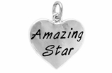 "W297SC - ""AMAZING STAR"" HEART <BR> <FONT size=""2"">Buy 1-2 for $4.05 Each<br>Buy 3-5 for $3.65 Each<br>Buy 6-11 for $3.55 Each<br>Buy 12-23 for $3.45 Each<br>Buy 24-49 for $3.35 Each<br>Buy 50 or More for $3.25 Each<br>Buy 100 or More for $2.35 Each</font>"