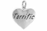 "W307SC - ""TERRIFIC"" HEART <BR> <FONT size=""2"">Buy 1-2 for $4.05 Each<br>Buy 3-5 for $3.65 Each<br>Buy 6-11 for $3.55 Each<br>Buy 12-23 for $3.45 Each<br>Buy 24-49 for $3.35 Each<br>Buy 50 or More for $3.25 Each<br>Buy 100 or More for $2.35 Each</font>"