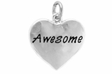 "W313SC - ""AWESOME"" HEART <BR> <FONT size=""2"">Buy 1-2 for $4.05 Each<br>Buy 3-5 for $3.65 Each<br>Buy 6-11 for $3.55 Each<br>Buy 12-23 for $3.45 Each<br>Buy 24-49 for $3.35 Each<br>Buy 50 or More for $3.25 Each<br>Buy 100 or More for $2.35 Each</font>"