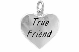 "W319SC - ""TRUE FRIEND"" HEART <BR> <FONT size=""2"">Buy 1-2 for $4.05 Each<br>Buy 3-5 for $3.65 Each<br>Buy 6-11 for $3.55 Each<br>Buy 12-23 for $3.45 Each<br>Buy 24-49 for $3.35 Each<br>Buy 50 or More for $3.25 Each<br>Buy 100 or More for $2.35 Each</font>"