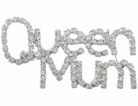 "<BR>     W3627P-NEW! ""QUEEN MUM""<BR>SILVER FINISH PIN AS LOW AS $4.75"