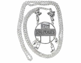 W3679EH-SING PRAISES ANTIQUE<BR>         SILVER FINISH EYEGLASS<BR>   HOLDER FROM $4.68