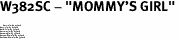 """W382SC - """"MOMMY'S GIRL"""" <BR> <FONT size=""""2"""">Buy 1-2 for $4.05 Each<br>Buy 3-5 for $3.65 Each<br>Buy 6-11 for $3.55 Each<br>Buy 12-23 for $3.45 Each<br>Buy 24-49 for $3.35 Each<br>Buy 50 or More for $3.25 Each<br>Buy 100 or More for $2.35 Each</font>"""