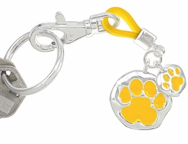 <br>             W4281KC - NEW! YELLOW!<BR>PAW PRINT KEYCHAIN AS LOW AS $1.99