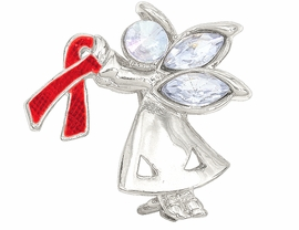 "<br>W4436P - CHARMING ""ANGEL BY MY SIDE""<BR>      SILVER TONE RED AWARENESS ANGEL<BR>            PIN©2005 FROM $2.81 TO $7.50<BR>     EXCLUSIVELY OURS! WE ARE THE ONLY<Br>              MANUFACTURER OF THIS PIN!"