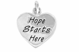 "W443SC - ""HOPE STARTS HERE"" HEART<BR> <FONT size=""2"">Buy 1-2 for $4.05 Each<br>Buy 3-5 for $3.65 Each<br>Buy 6-11 for $3.55 Each<br>Buy 12-23 for $3.45 Each<br>Buy 24-49 for $3.35 Each<br>Buy 50 or More for $3.25 Each<br>Buy 100 or More for $2.35 Each</font>"