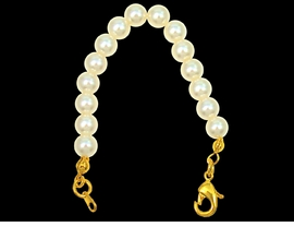 "W4558JP - 3"" GOLD FINISH LOBSTER<BR>      CLASP EXTENDER WITH PEARLS<br>                 FROM $1.75 TO $5.00"