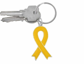 <BR>W4579KC - YELLOW DOUBLE-SIDED<BR>     AWARENESS RIBBON KEY CHAIN<Br>                    AS LOW AS $1.99