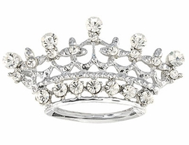W4589P-GENUINE SWAROVSKI CRYSTAL<BR>              SILVER FINISH CROWN PIN<BR>                        AS LOW AS $4.85
