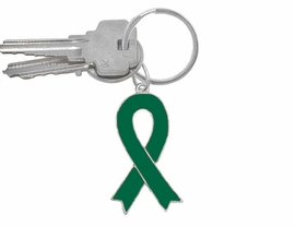 W5284KC - KELLY GREEN AWARENESS<Br>             RIBBON KEY CHAIN©2005<Br>                        AS LOW AS $1.99<bR>EXCLUSIVELY OURS! WE ARE THE ONLY<Br>   MANUFACTURER OF THIS KEYCHAIN!