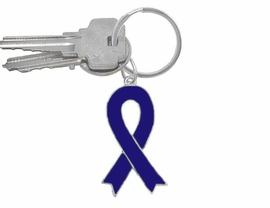 W5286KC - BLUE AWARENESS RIBBON<BR>    KEYCHAIN©2005 AS LOW AS $2.65<BR>EXCLUSIVELY OURS! WE ARE THE ONLY<BR>  MANUFACTURER OF THIS KEYCHAIN!