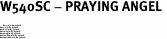 "W540SC - PRAYING ANGEL <BR> <FONT size=""2"">Buy 1-2 for $4.05 Each<br>Buy 3-5 for $3.65 Each<br>Buy 6-11 for $3.55 Each<br>Buy 12-23 for $3.45 Each<br>Buy 24-49 for $3.35 Each<br>Buy 50 or More for $3.25 Each<br>Buy 100 or More for $2.35 Each</font>"