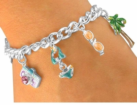 "<br>                      W5438BA - 4-COLOR<Br>     ""VACATION PARADISE"" SILVER TONE<bR>TOGGLE CHARM BRACELET ASSORTMENT<br>                           AS LOW AS $4.60"