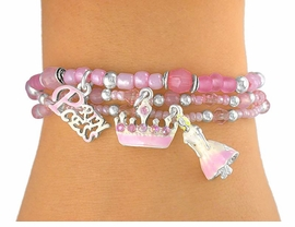"<Br>  W5502BA - CHILDREN'S 4-COLOR<BR>   ""PRINCESS"" LEAD & NICKEL FREE<Br>         STRETCH CHARM BRACELET<Br>ASSORTMENT FROM $2.25 TO $4.50"