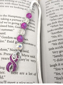 <br>         W5523BM - PURPLE GENERAL CANCER,<BR>       PANCREATIC CANCER, CROHN'S DISEASE,<BR>COLITIS, CYSTIC FIBROSIS, HODGKIN'S DISEASE<br>     & FIBROMYALGIA  AWARENESS BOOKMARK<bR>                               AS LOW AS $3.45<BR>                                          ©2004