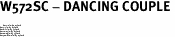 "W572SC - DANCING COUPLE <BR> <FONT size=""2"">Buy 1-2 for $4.05 Each<br>Buy 3-5 for $3.65 Each<br>Buy 6-11 for $3.55 Each<br>Buy 12-23 for $3.45 Each<br>Buy 24-49 for $3.35 Each<br>Buy 50 or More for $3.25 Each</font>"