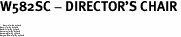 """W582SC - DIRECTOR'S CHAIR<BR> <FONT size=""""2"""">Buy 1-2 for $4.05 Each<br>Buy 3-5 for $3.65 Each<br>Buy 6-11 for $3.55 Each<br>Buy 12-23 for $3.45 Each<br>Buy 24-49 for $3.35 Each<br>Buy 50 or More for $3.25 Each</font>"""