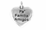 "W601SC - ""FE FAMILIA AMIGOS"" HEART<BR> <FONT size=""2"">Buy 1-2 for $4.05 Each<br>Buy 3-5 for $3.65 Each<br>Buy 6-11 for $3.55 Each<br>Buy 12-23 for $3.45 Each<br>Buy 24-49 for $3.35 Each<br>Buy 50 or More for $3.25 Each<br>Buy 100 or More for $2.35 Each</font>"