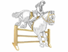 "W6258P - TWO-TONE ""HORSE HURDLE""<bR>                    PIN AS LOW AS $6.90"