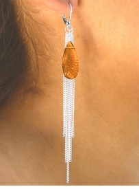 <bR>     W6461EA - 3-COLOR MULTICHAIN &<BR>  FACETED FAUX STONE DROP EUROWIRE<br>EARRING ASSORTMENT AS LOW AS $5.60
