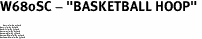 "W680SC - ""BASKETBALL HOOP"" <BR> <FONT size=""2"">Buy 1-2 for $4.05 Each<br>Buy 3-5 for $3.65 Each<br>Buy 6-11 for $3.55 Each<br>Buy 12-23 for $3.45 Each<br>Buy 24-49 for $3.35 Each<br>Buy 50 or More for $3.25 Each<br>Buy 100 or More for $2.35 Each</font>"