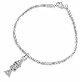 <bR>      WHOLESALE FASHION SORORITY JEWELRY  <BR>                     EXCLUSIVELY OURS!!  <BR>                AN ALLAN ROBIN DESIGN!!   <BR>               HYPOALLERGENIC - SAFE !!  <BR>          LEAD, NICKEL & CADMIUM FREE!!   <BR> W847B7 - OFFICIAL SILVER TONE GREEK <BR> ALPHA XI DELTA SORORITY CHARM ON SNAKE <Br> CHAIN BRACELET FROM $5.90 TO $9.25 �2015